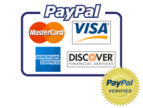 We accept Paypal and credit card